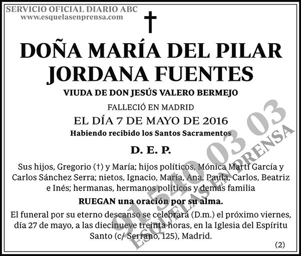 María del Pilar Jordana Fuentes